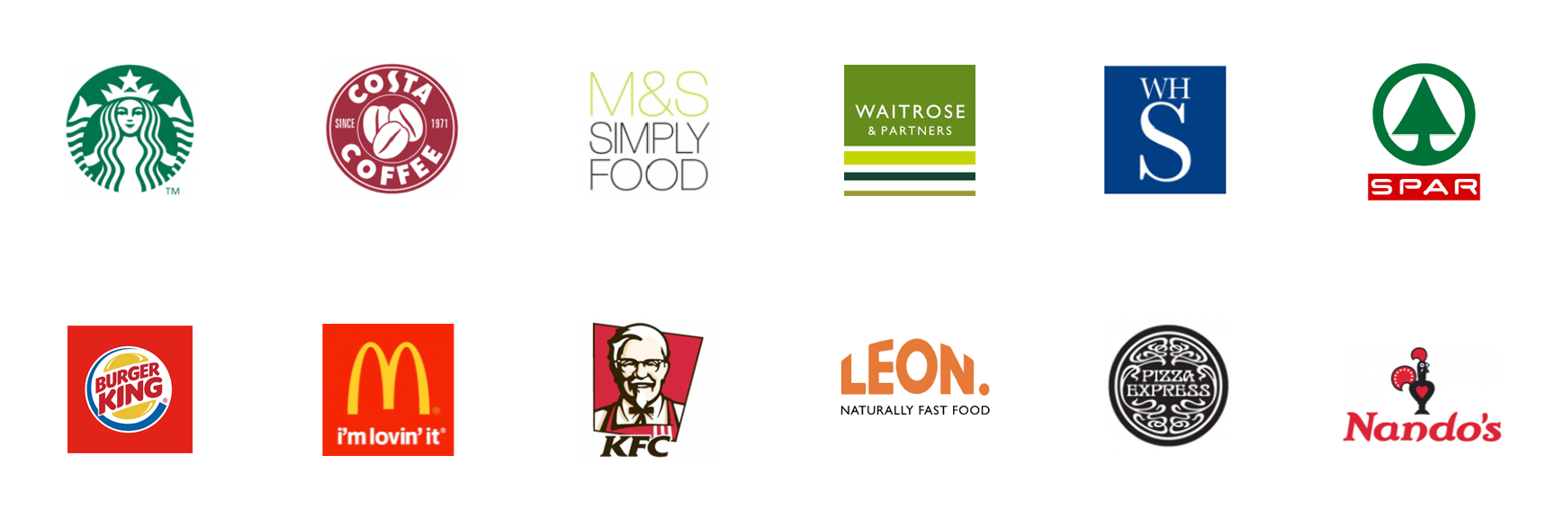 Logos of food and retail outlets at UK MSAs